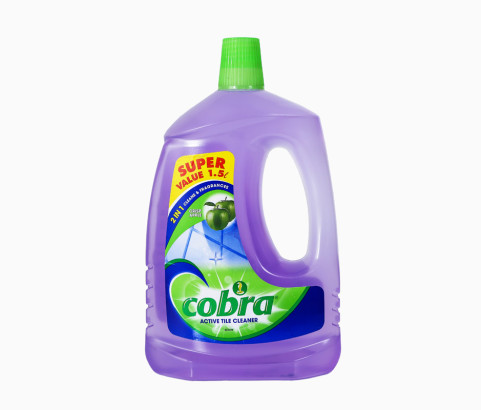 1.5L Cobra Active Tile Cleaner Bottle with Cap (Polyprop) - Exclusive