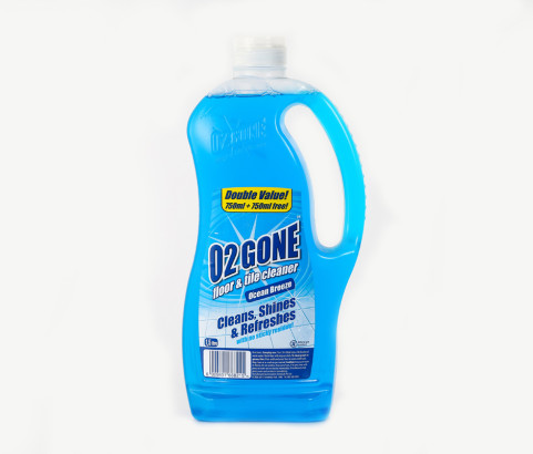 1.5L O2 Gone Floor and TIle Cleaner bottle with Custom Cap (HDPE) - Exclusive