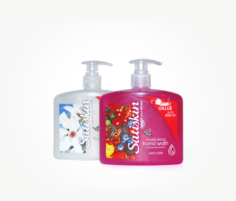 400ml Satiskin Hand Wash Bottle (Polyprop) - Exclusive