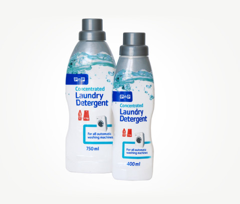 750ml and 400ml No Name Concentrated Liquid Detergent Bottle with Dosage Cap (HDPE) - Exclusive