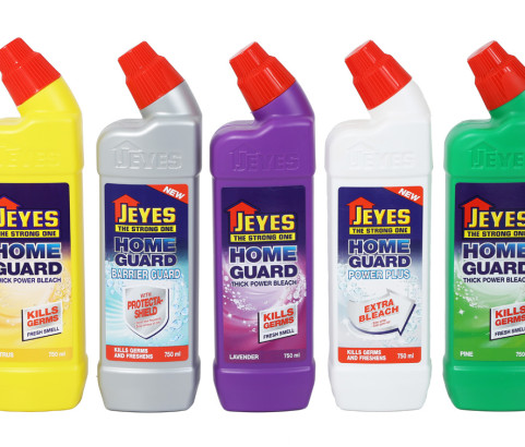 750ml Jeyes Home Guard Angle Neck Bottle with Custom Puffer and Over Cap (HDPE) - Exclusive
