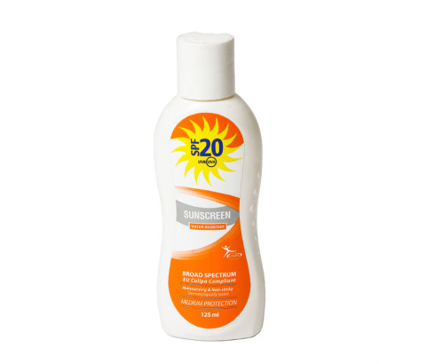 125ml Sun Screen Bottle with Disc Top Cap (HDPE) - Exclusive