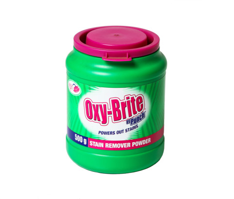 500g Oxy Brite Stain Remover Jar with Custom Cap (HDPE) - Exlcusive