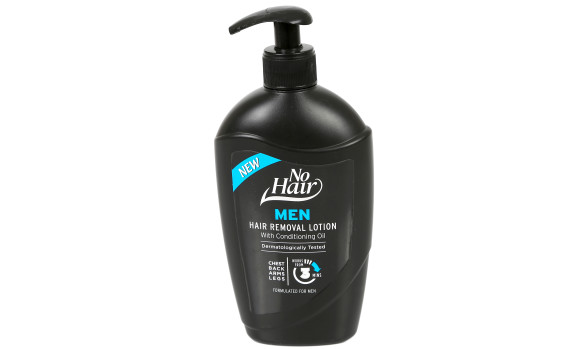 400ml No Hair Mens Hair Removal Lotion with Lotion Pump (HDPE)   Exclusive