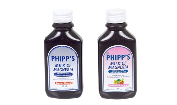 100ml Phipps Milk Of Magnesia Bottle (HDPE)   Exclusive