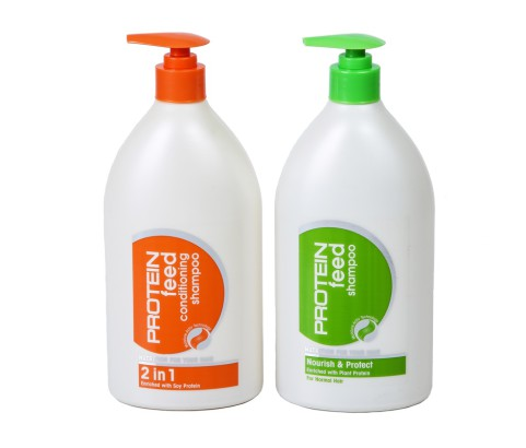 750ml Protein Feed Bottles with Lotion Pump (HDPE)   Exclusive