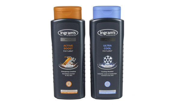 400ml Ingrams Mens Lotion Bottles (HDPE)   Exclusive