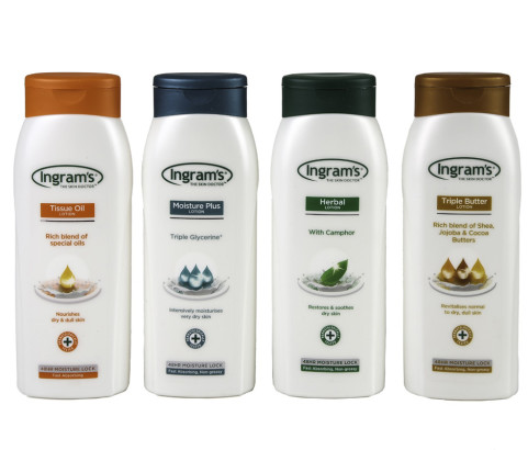 400ml Ingrams Womans Lotion Bottles (HDPE)   Exclusive